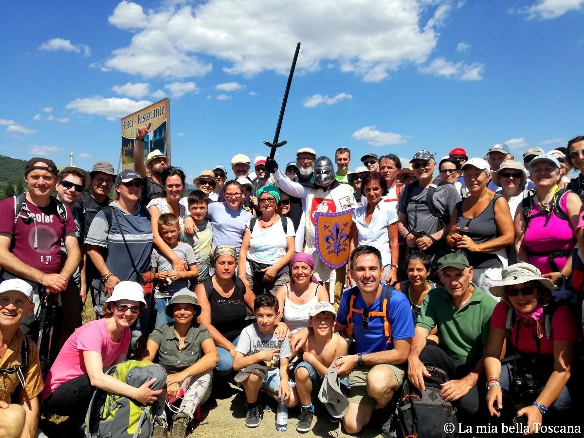 Foto di gruppo cammino della Setteponti