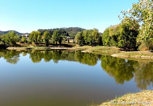 Lago artificiale di Toscana