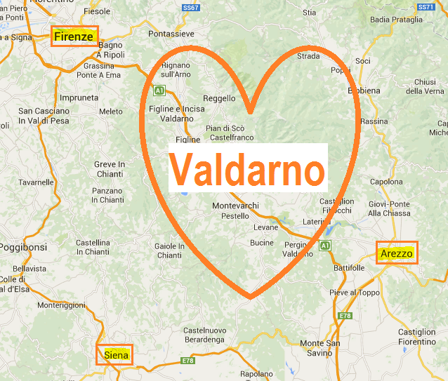 Dove si trova il Valdarno in Toscana