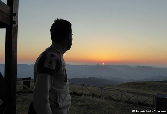Vedere l'alba in Toscana