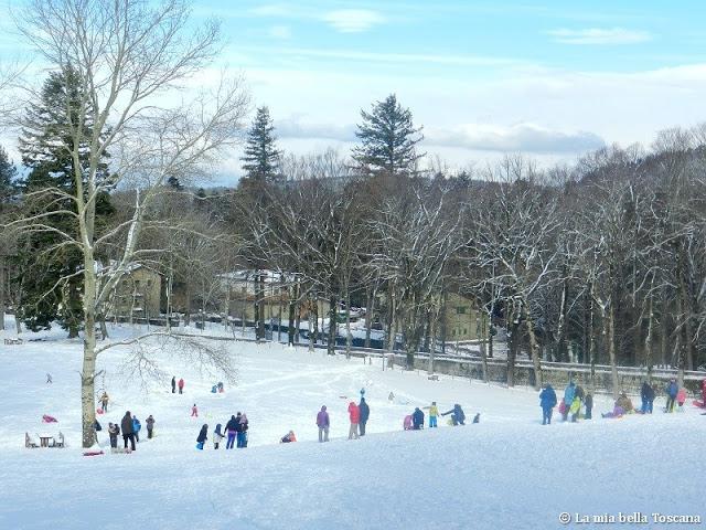 Neve nella montagna del Pratomagno