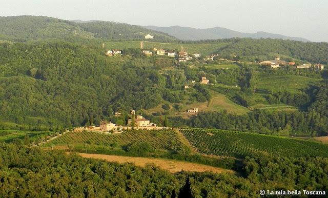 La strada nel Chianti per arrivare a Siena