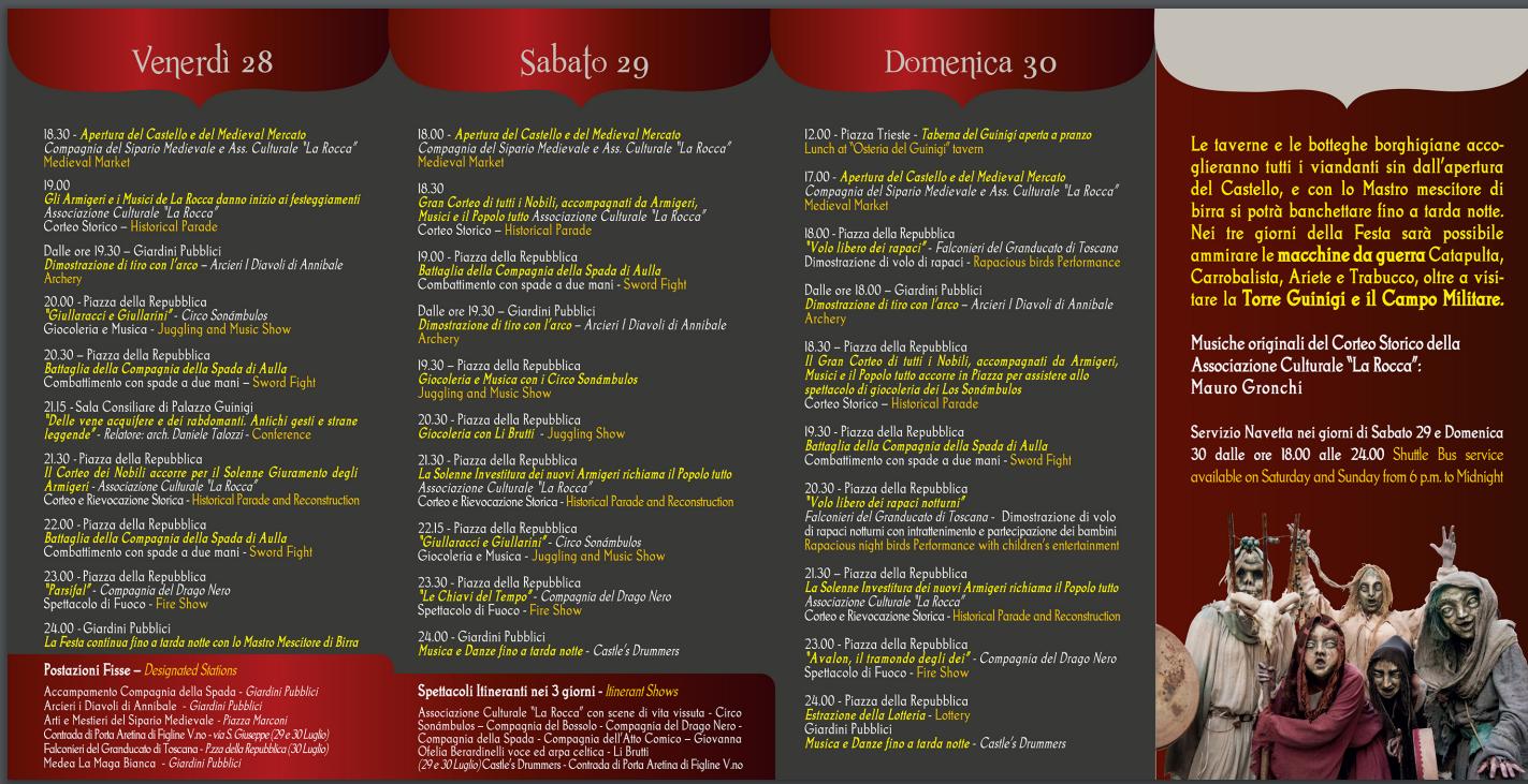 Festa medioevale Laterina 2017
