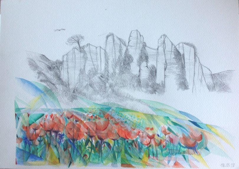Dipinti sulle Balze del Valdarno