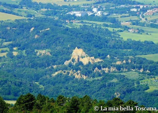 Panorama sulle Balze del Valdarno