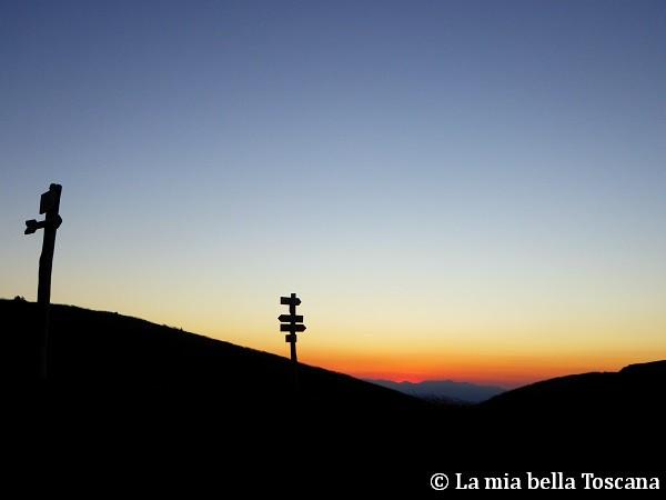 Sul crinale del Pratomagno al tramonto