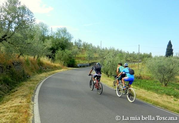in bici nel Valdarno