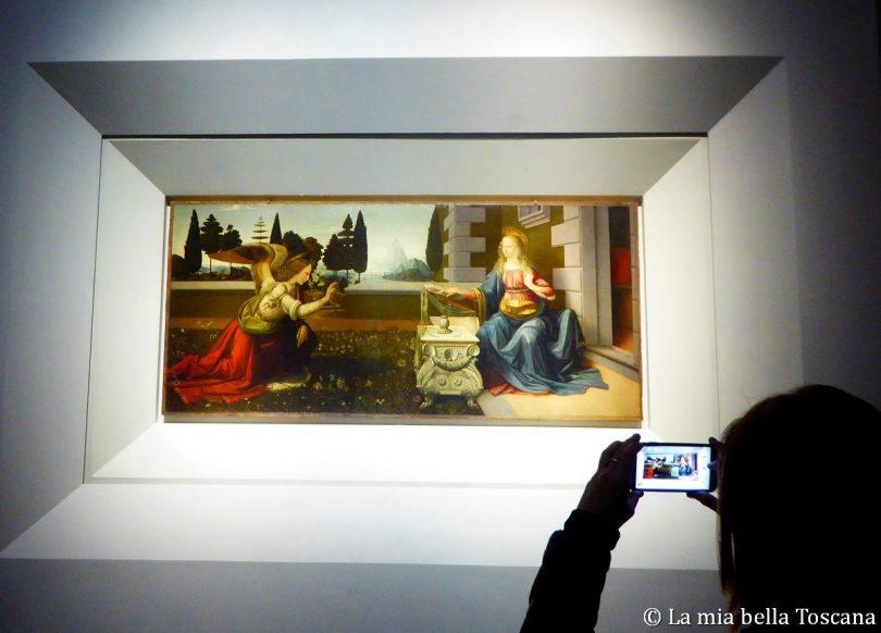La sala di Leonardo agli Uffizi